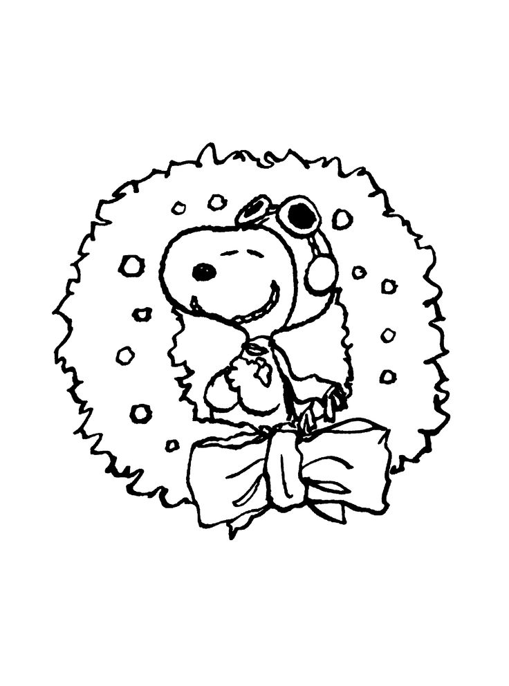 snoopy woodstock christmas coloring pages - photo#16