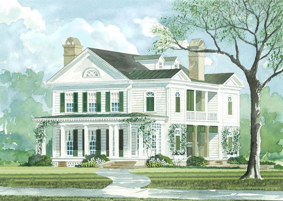 taylor creek john tee 335 2890sqft house plans with porchessouthern living - Southern Living Home Designs