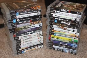 a sony playstation ps3 games lot of 32 madden call of duty etc