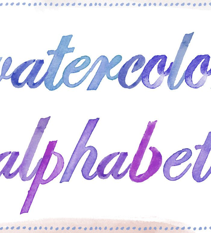watercolor alphabet clip-art letters illistrated by angie makes