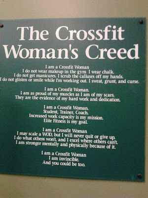 #crossfit ... As I walked into the gym yesterday, a woman with fully done makeup (9 a.m.) & a ton of perfume walked by....baffling.