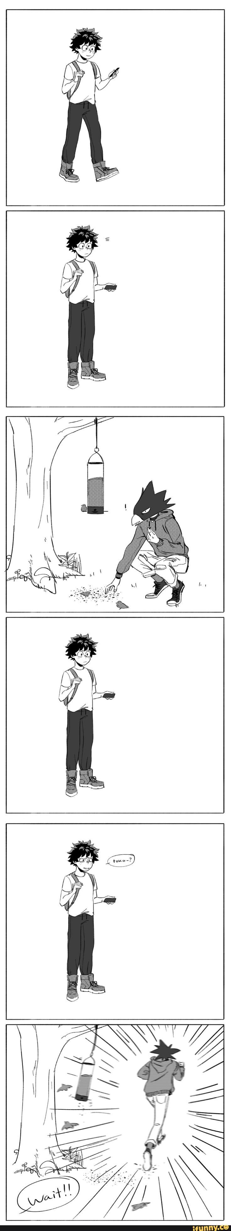 Boku no Hero Academia    Izuku Midoriya, Fumikage Tokoyami