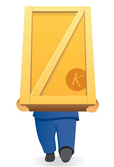 Removal Man Carrying Box