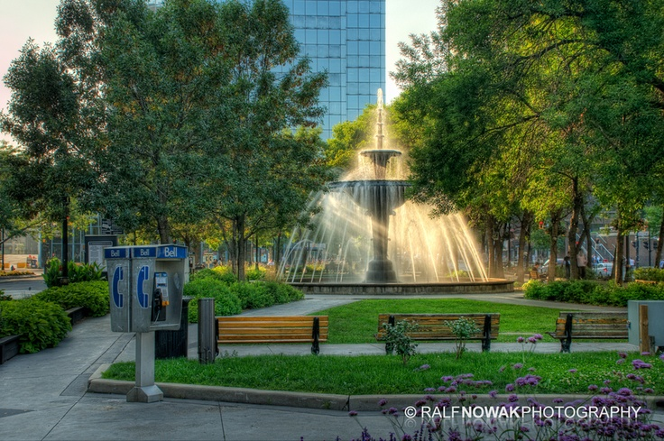 Gore Park downtown Hamilton, Ontario | by Ralf Nowak, via 500px