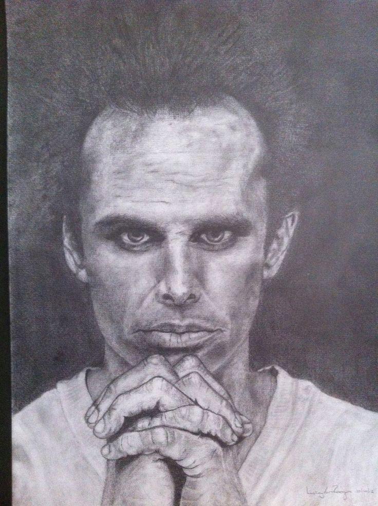 Walton Goggins - Pencil Drawing - L van Rooyen