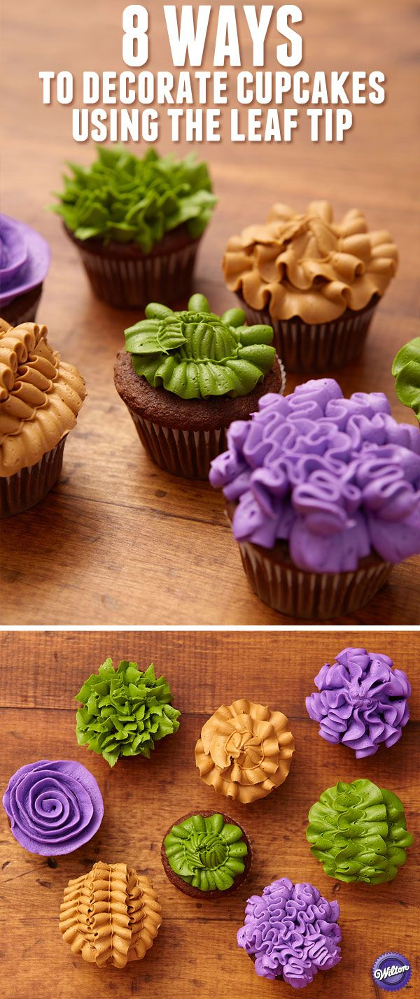 Flower season goes out in a blaze of glory with the rich shades of fall mums. Now that vivid palette of green, gold and purple is gathered on cupcakes which feature beautifully textured decorating techniques. Create all the colors using the Color Right Performance Color System.
