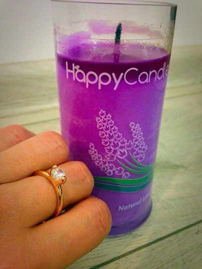 The ring found in Natural Lavander Candle looks so pretty on Andrada's finger <3