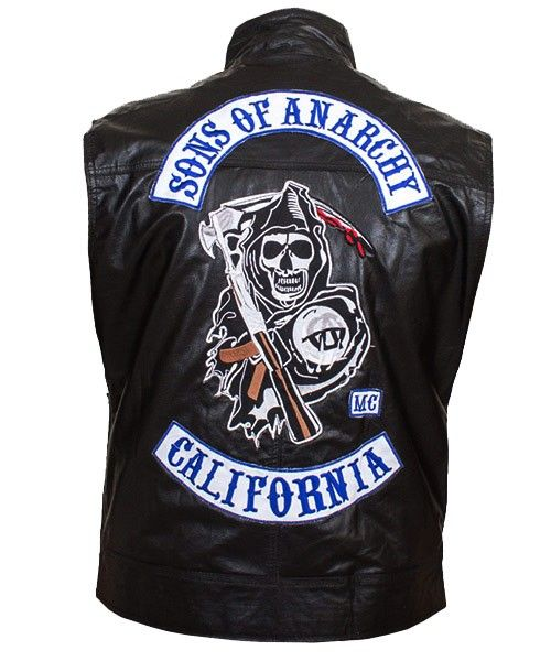 Mens Leather Vest-Son Of Anarchy