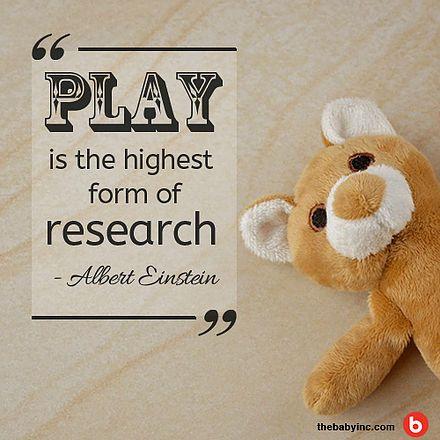 """PLAY is the highest form of Research"" - Albert Einstein | ""BERMAIN adalah bentuk tertinggi dari Penelitian"" | Baby Inc. Parenting Blog - Jakarta, Indonesia #BabyIncPick #quotes #inspirationalquotes #kidsquote #inspirations #childrenquote #family #alberteinstein  #play #toy #wood #teddybear #babyinc #babyincquote #kutipan #kutipaninspirasi #kutipananak #inspirasi #katainspirasi"