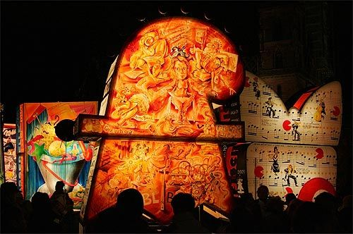 Basler Fasnacht early-morning parade with Lanterns.