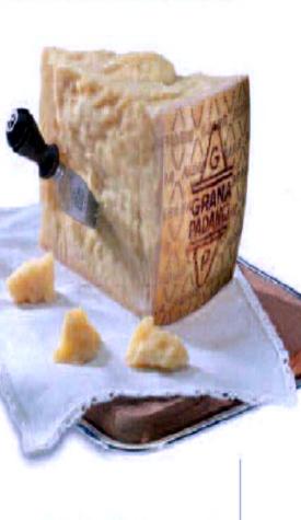 Grana Padano.  The menu at my new job uses this cheese a lot.