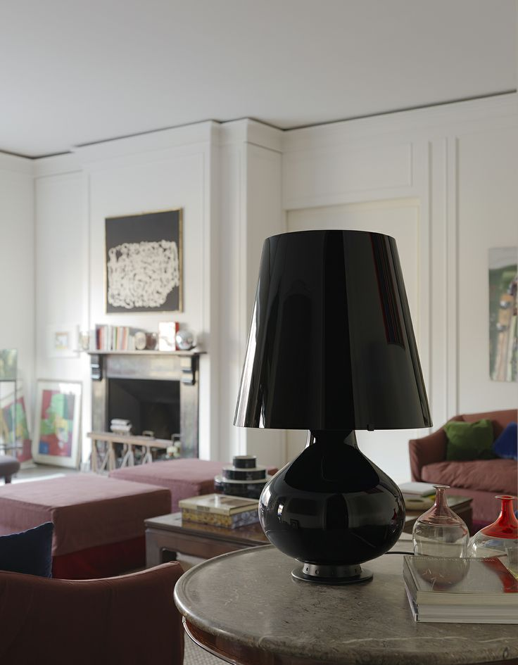 Fontana Total Black By Max Ingrand Celebrating 60 Years Of Table Lamp Designed