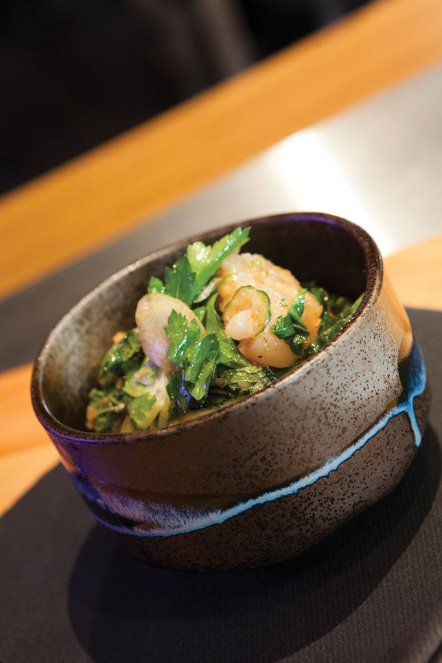 Le cevice de pétoncles - Yuzu Le Restaurant