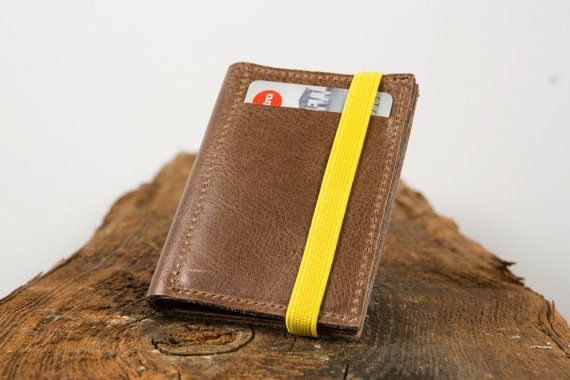 Men's leather wallet minimal leather wallets handmade by Gazur