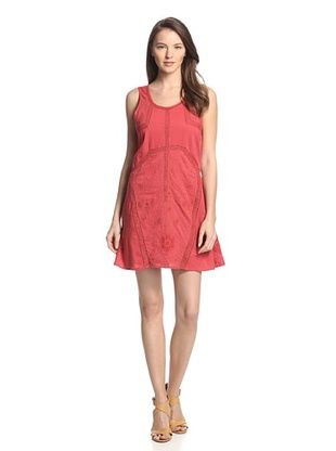70% OFF Babakul Women's Elita Lace Inset Embroidered Dress (Sierra)