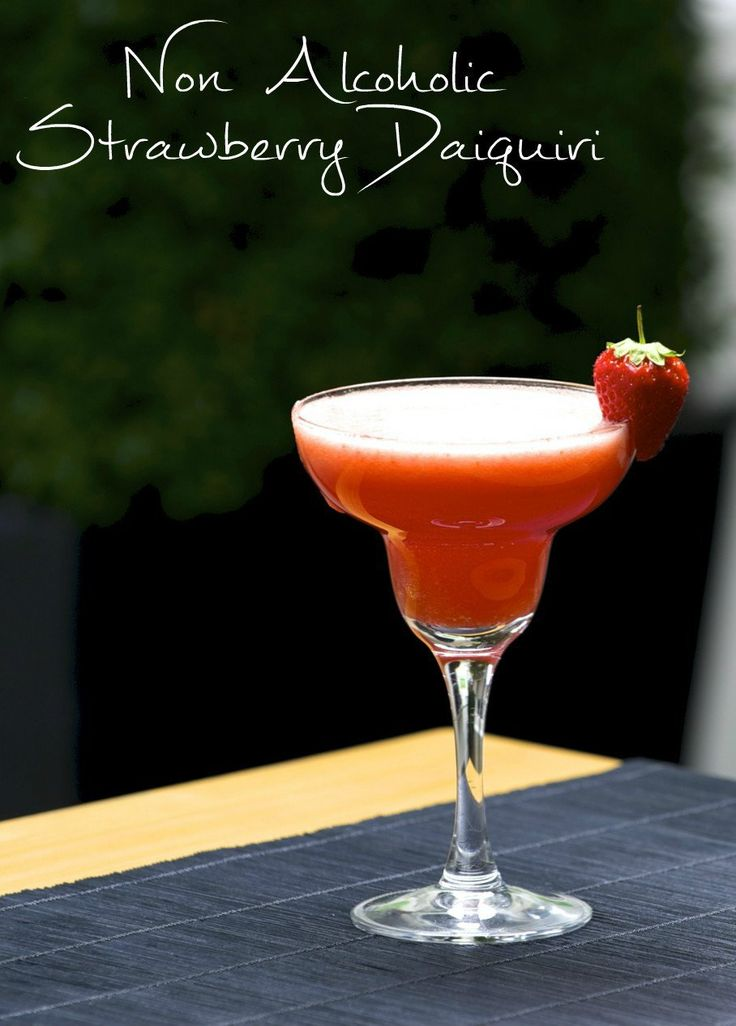 non alcoholic strawberry daiquiri mocktail recipe perfect for a romantic valentines day drink, or for the summer time