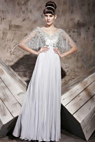 Robe de soiree manches chauve souris disponible sur Mode collection ! #robe #dress #robedesoiree #robeempire