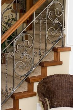 houzz decorative wrought iron stair railings - Google Search