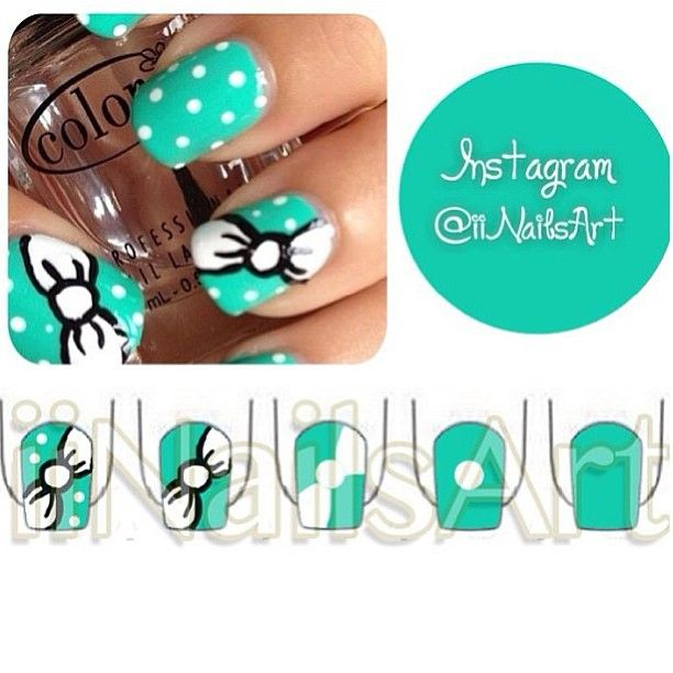 Bow nail art tutorial  #Padgram