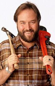 Al Borland, Richard Karn-- love the character, love the man! I saw Richard in an interview saying how uncomfortable he was about having to kiss a woman other than his wife during a scene on Home Improvement, but his wife came with him on the set and he got through it. With all you hear about the morally confused lives of some of the people in Hollywood, Richard is a breath of fresh air to me. A good-heart.
