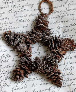 Beautiful Star of pinecones. A Star of David would be nice also.
