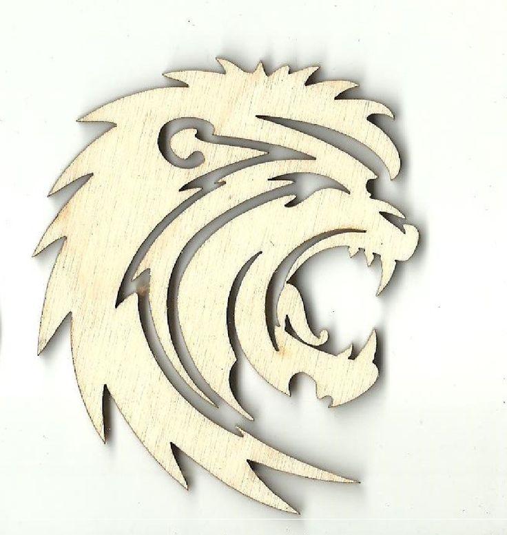 Lion - Laser Cut Wood Shape CAT44