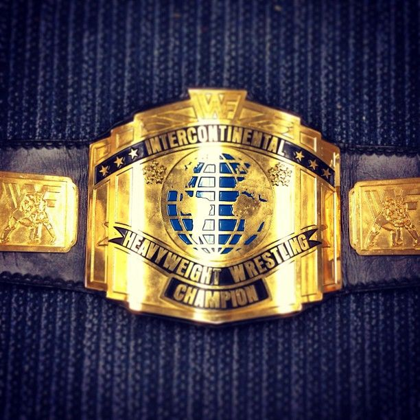 Intercontinental Championship. This Championship Title was held by #WWE Superstars Shawn Michaels, Curt Hennig, Razor Ramon, Bret Hart and many more. The current WWE Intercontinental Championship, debuted by Cody Rhodes at Hell In a Cell 2011, is based off this design.