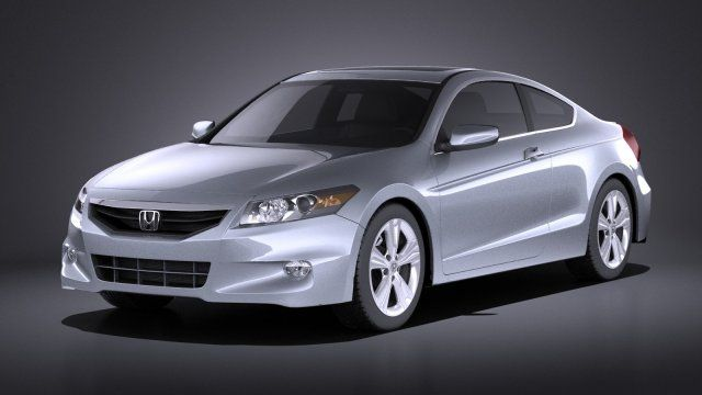 Honda Accord 2012 coupe VRAY 3D Model .max .c4d .obj .3ds .fbx .lwo .stl @3DExport.com by SQUIR