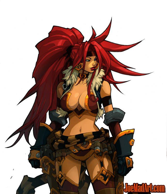Battle Chasers Nightwar Red Monika game Portrait