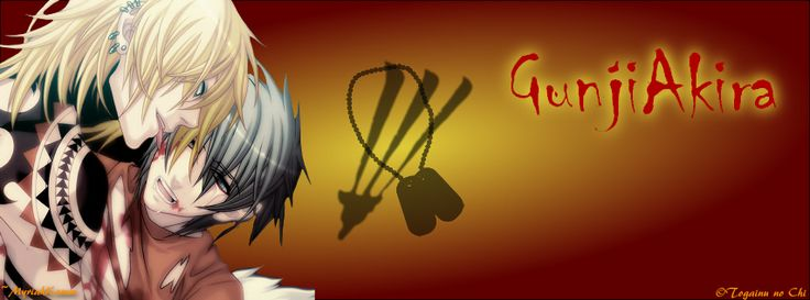 Gunji and Akira from Togainu no Chi, FB Cover size