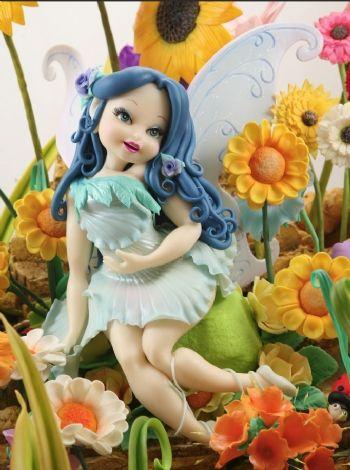 Hada de jardín - Porcelana Fría