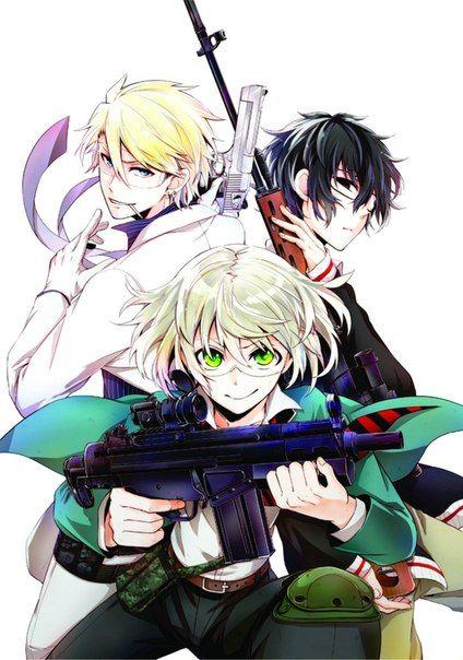 Aoharu x Kikanjuu | Aoharu x Machinegun | Toy Gun Gun: Tooru Yukimura, Masamune Matsuoka, Hotaru Tachibana | Anime | Fanart | Sailormeowmeow