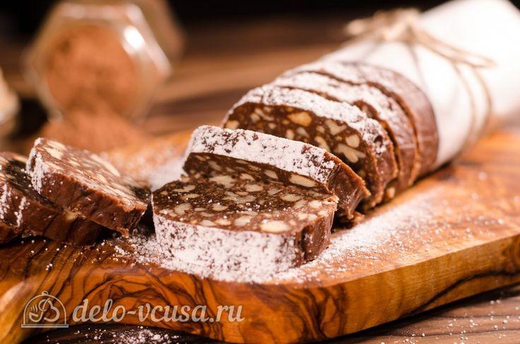 Сладкая колбаска из печенья и какао - классический #сладкаяколбаска #печенья #десерт  #рецепты #деловкуса #готовимсделовкуса