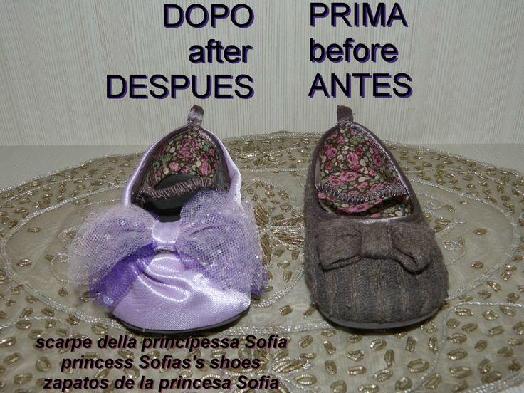 scarpe della principessa Sofia  princess Sofia's shoes   zapatos de la princesa Sofia