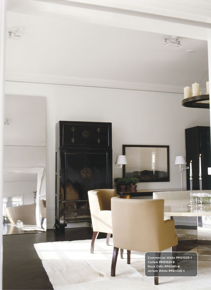 Dining room inspired by vicente wolf featuring his white for Dining room colour inspiration