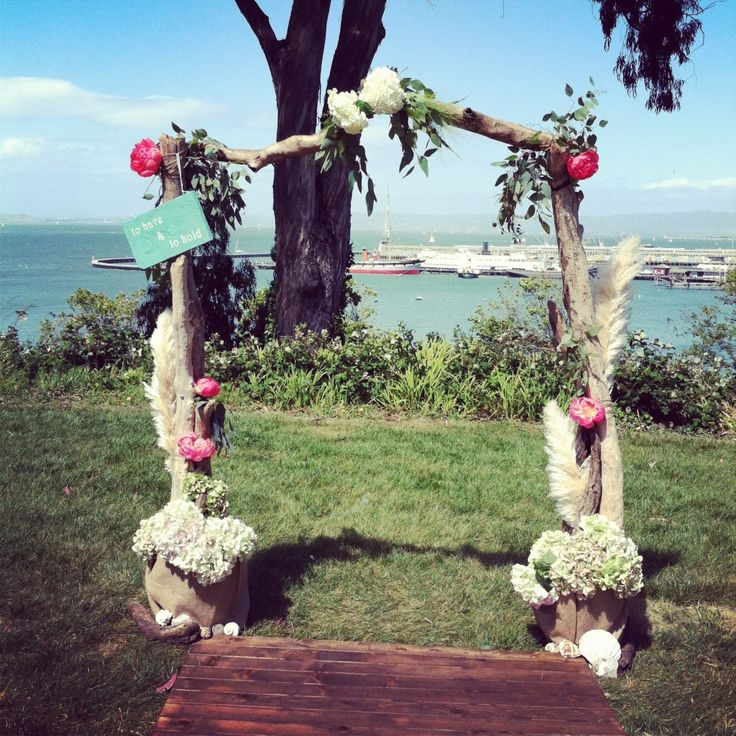 Diy Beach Wedding Arch: DIY Driftwood Arch By Lovely Little Details