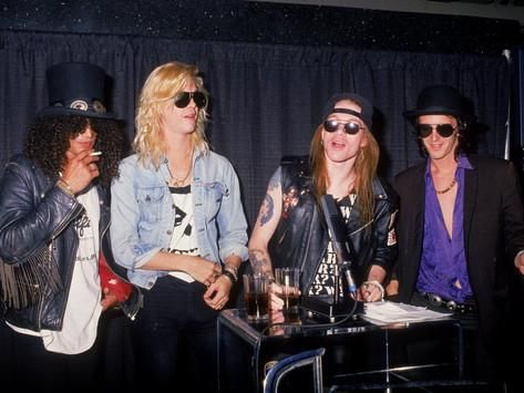 Members of the Rock Group Guns N' Roses Slash, Duff Mckagan, Axl ...