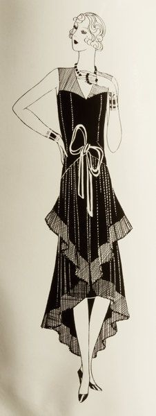 Vintage 1920s sewing pattern. Joyful dress for by Contrapunt