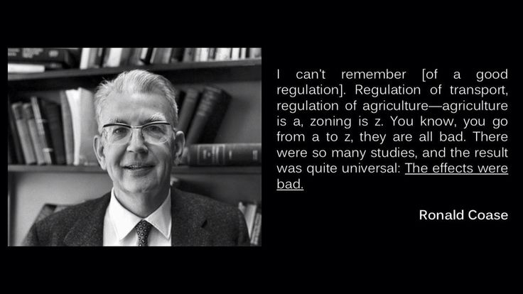 Goede regulering - Ronald Coase