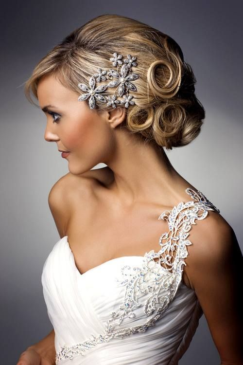 Beautiful and bright hair for a shining bride
