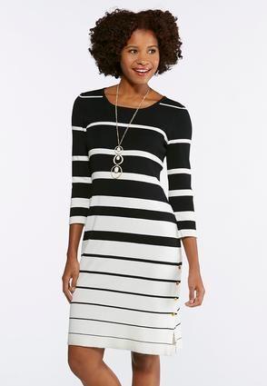 b172833d59e Contrast Stripe Sweater Dress Junior/Misses Cato Fashions | Media ...