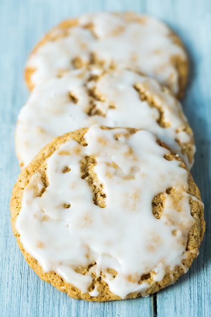 old fashioned iced oatmeal cookies. Yum!