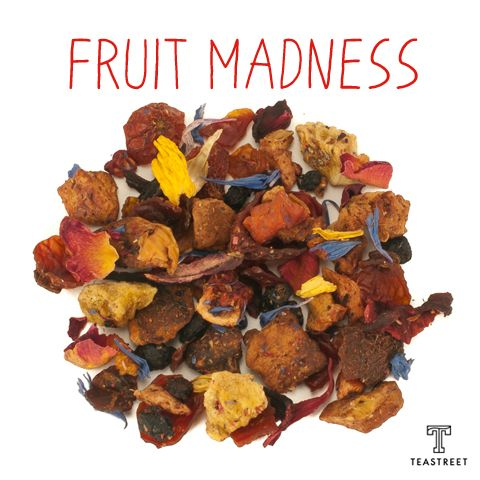 herbal tea fruit madness. drink it hot or cold. blend with other straight tea or mix it with your favorite cocktail. enjoy! www.teastreet.nl