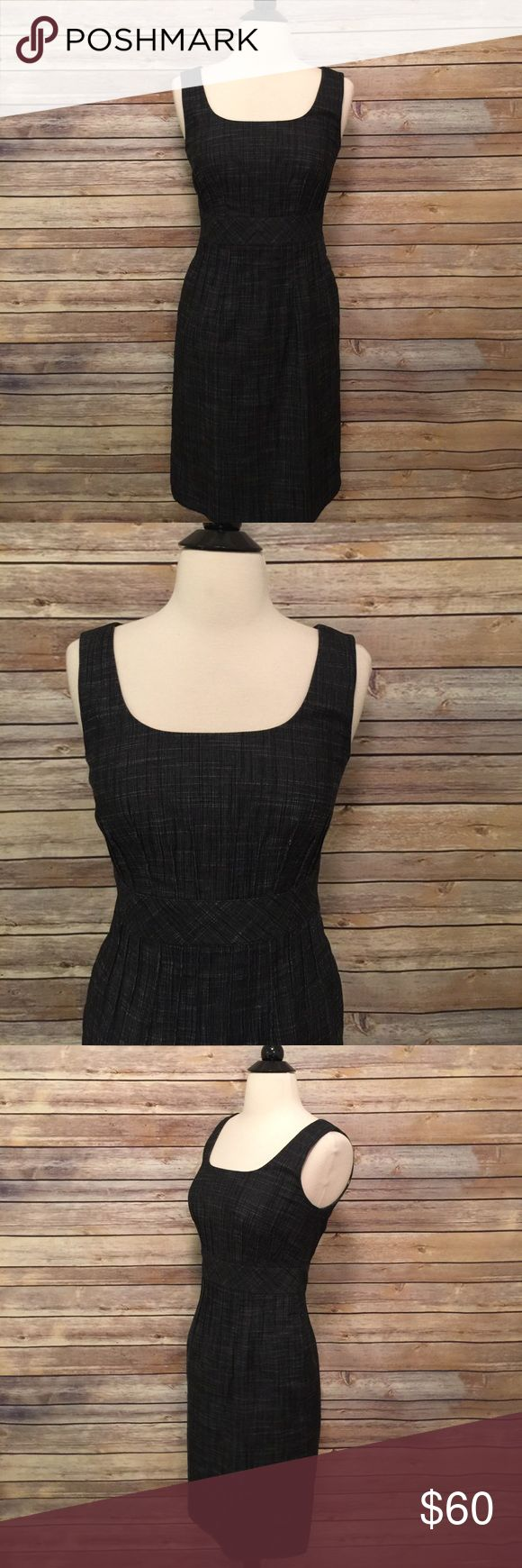 "Kay Unger New York 100% Cotton dress Beautiful and classy Kay Unger dress.  In excellent condition!  Bust 32"" Length 35"" Waist 28"" Dark gray in color. Kay Unger Dresses"