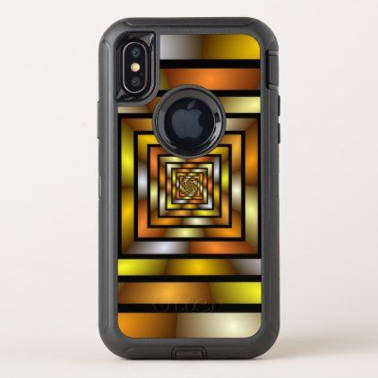 Luminous Tunnel Colorful Graphic Fractal Pattern OtterBox Defender iPhone X Case - unusual diy cyo customize special gift