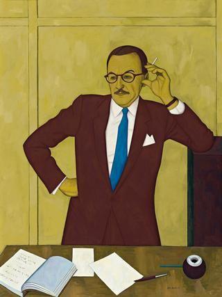 Portrait of Tam Purves by John Brack (1920 – 1999), 1958, oil on canvas, 122.0 x 91.5 cm | Deutscher and Hackett