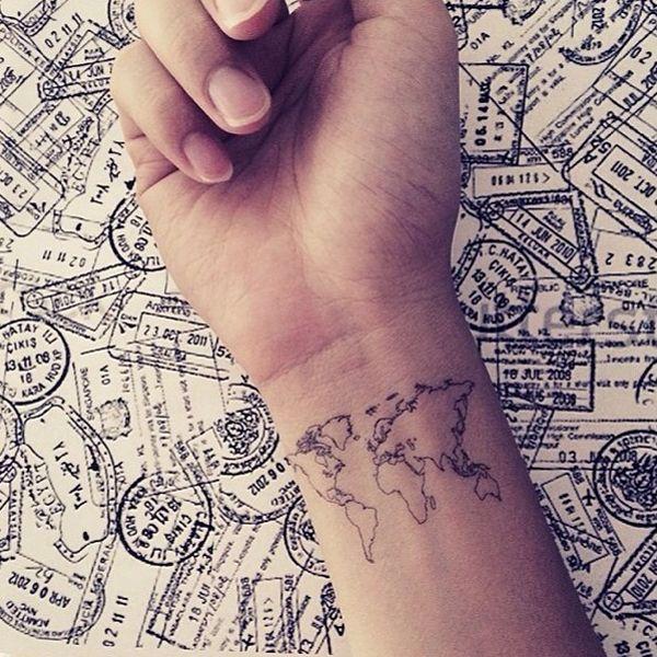39 best tattoos travel images on pinterest tattoo ideas design world map love travel wrist tattoo inknart temporary tattoo wrist quote tattoo body sticker fake tattoo wedding tattoo small tattoo gumiabroncs Gallery