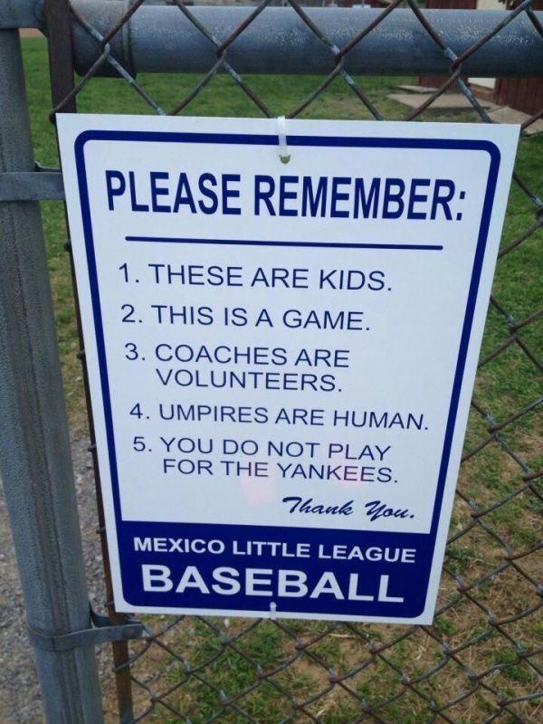 Picturequotes Baseballfield Baseball Signs Little League Baseball Little League