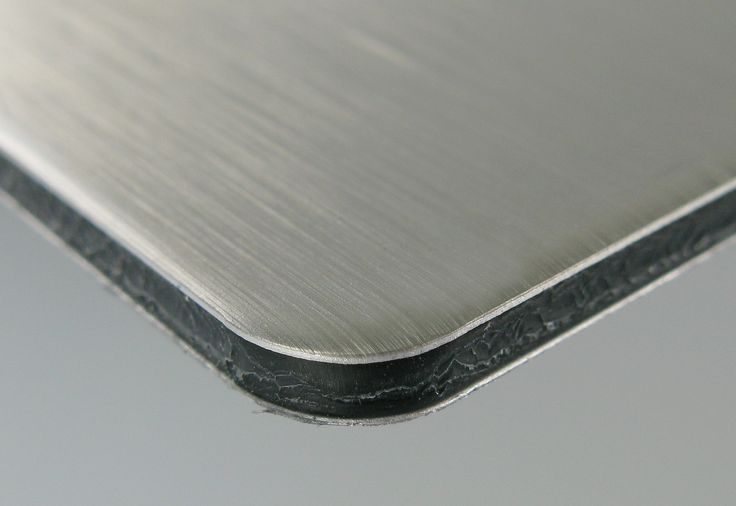Dibond® (aluminum faces with a polyethylene core)
