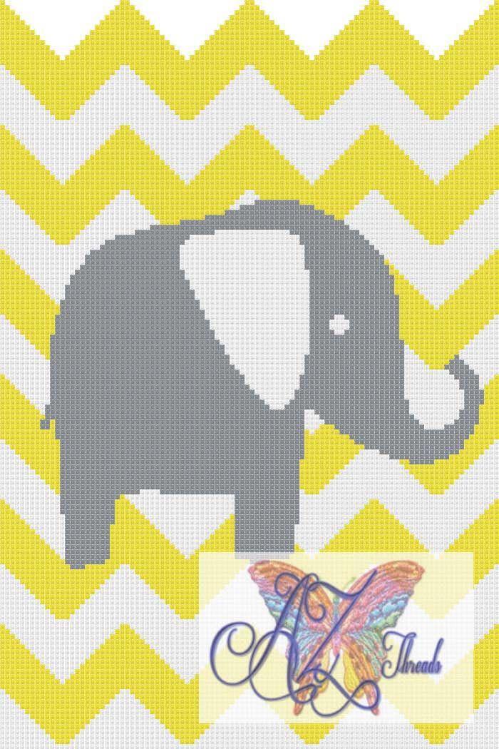 Crochet Chevron Elephant graph                                                                                                                                                                                 Más